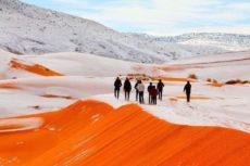 Снег накрыл Марокко: российские туристы стали свидетелями уникального явления